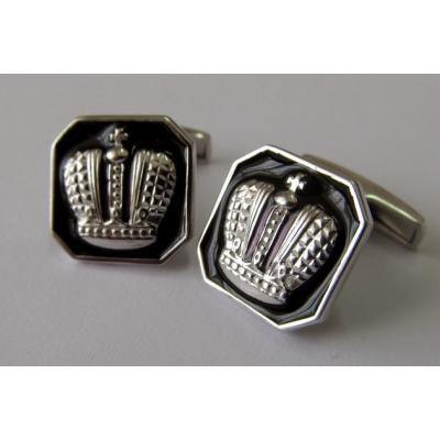 Серебряные запонки с эмалью Элегант арт. 140027 140027