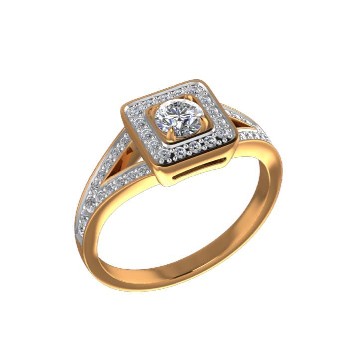 Золотое кольцо Бриллиант арт. КЛ-115/1К КЛ-115/1К