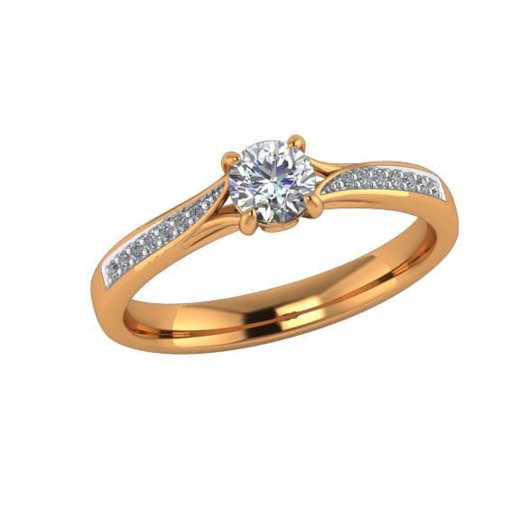 Помолвочное кольцо из золота с бриллиантом Бриллиант арт. КЛ-117/1К КЛ-117/1К