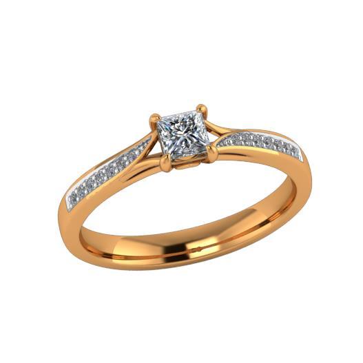 Помолвочное кольцо из золота с бриллиантом Бриллиант арт. КЛ-117К КЛ-117К