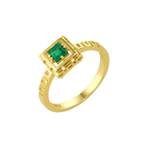 Кольцо из лимонного золота Изумруд арт. 64000124 64000124