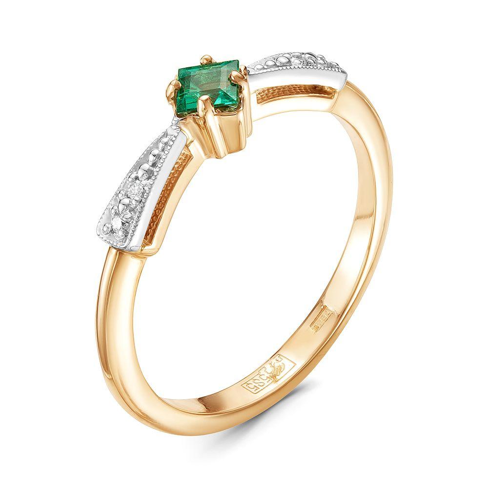Золотое кольцо Бриллиант и Изумруд арт. 94000134 94000134