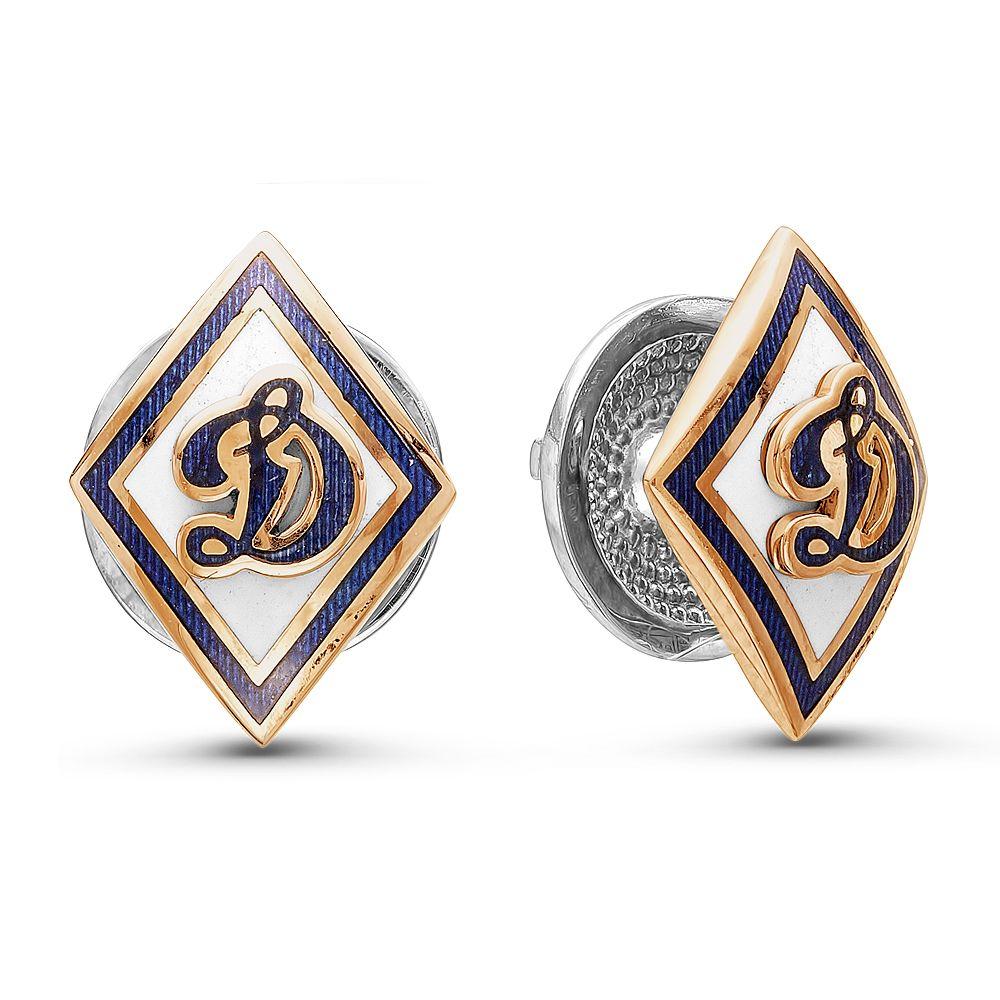 Золотой значок с серебром 925 пробы и эмалью арт. 14020016 14020016