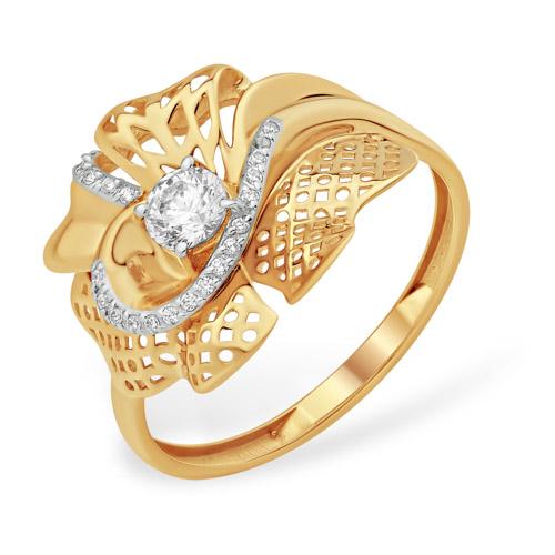 Золотое кольцо Фианит арт. к13210585 к13210585