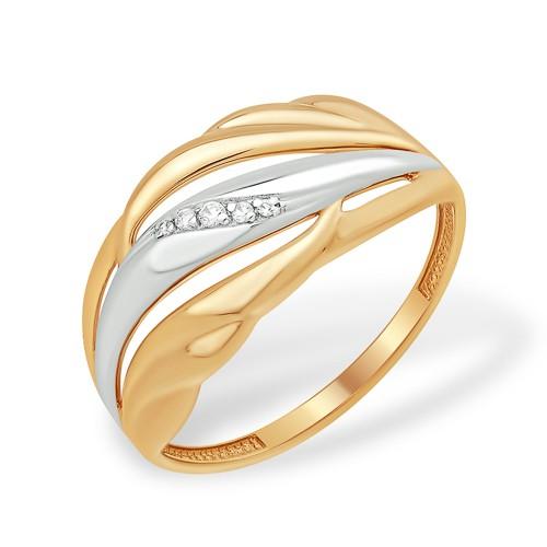 Золотое кольцо Фианит арт. к1329738 к1329738