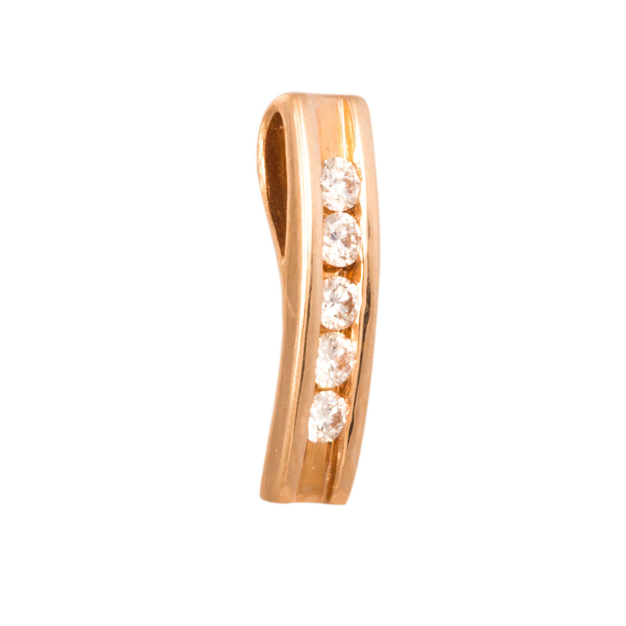 Золотой подвес с бриллиантом арт. 2В 216К 2В 216К