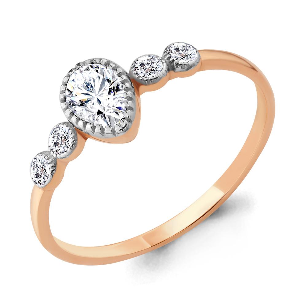 Золотое кольцо Фианит арт. 68109а 68109а
