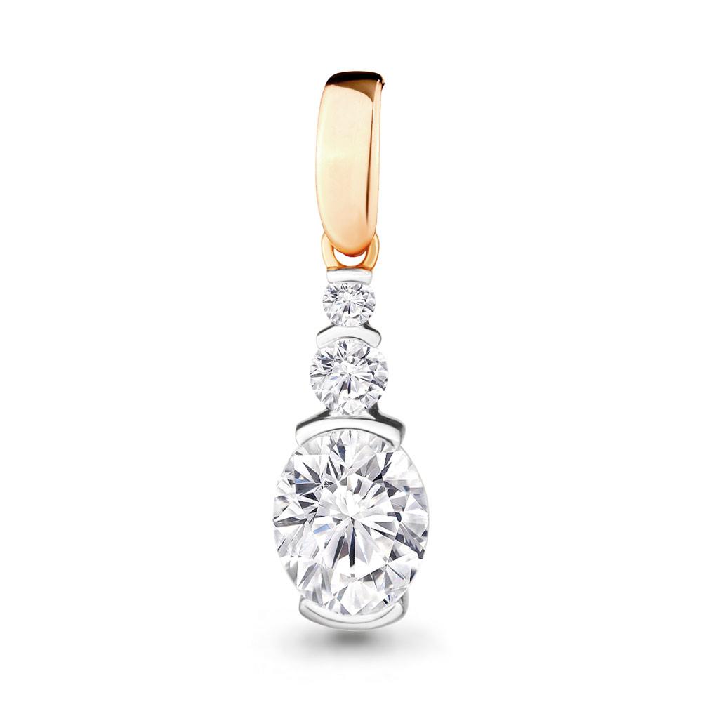 Золотой подвес с кристаллом сваровски и фианитом арт. 23620 23620