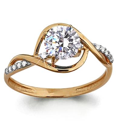 Золотое кольцо Фианит арт. 65207а 65207а