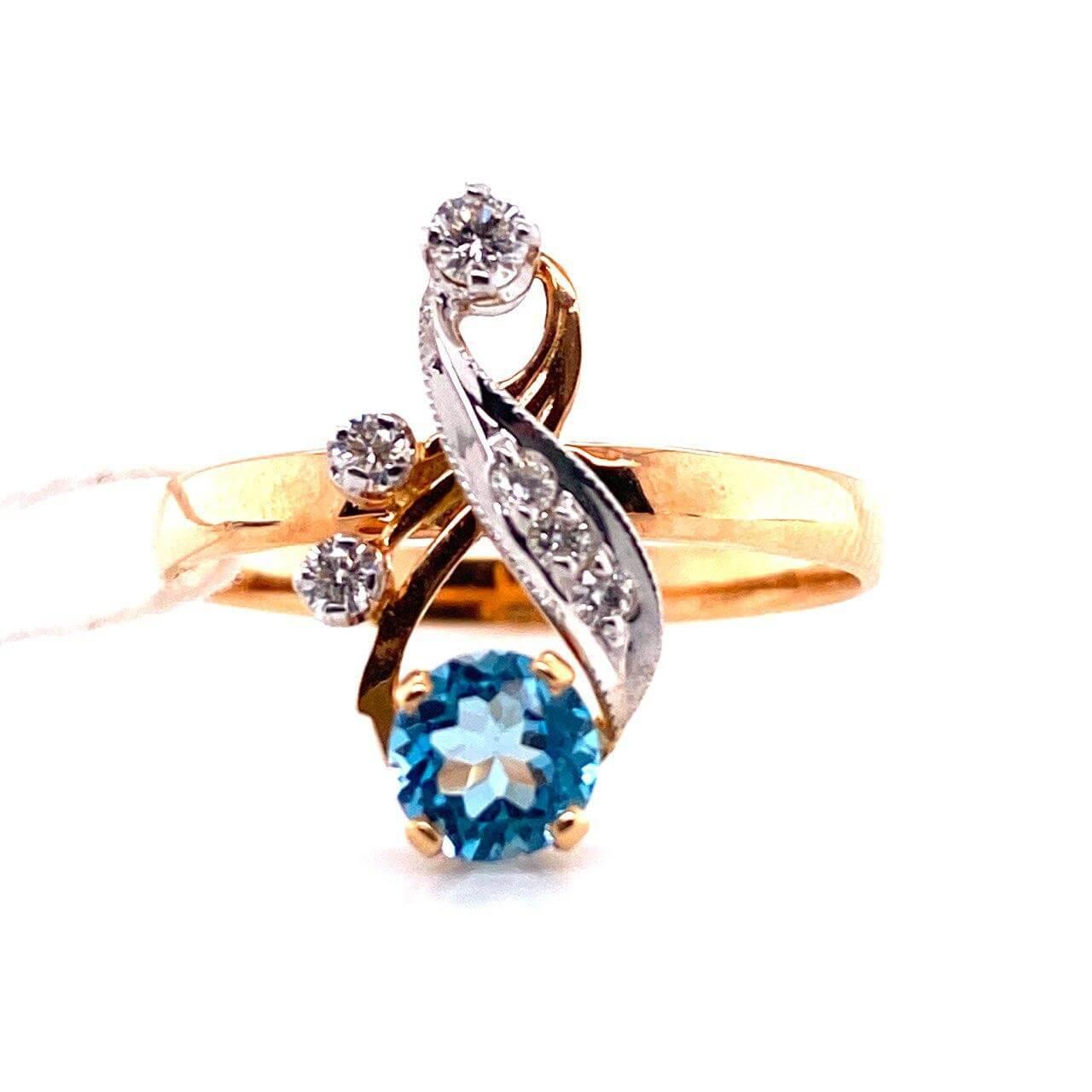 Золотое кольцо Бриллиант и Топаз арт. е1833 е1833