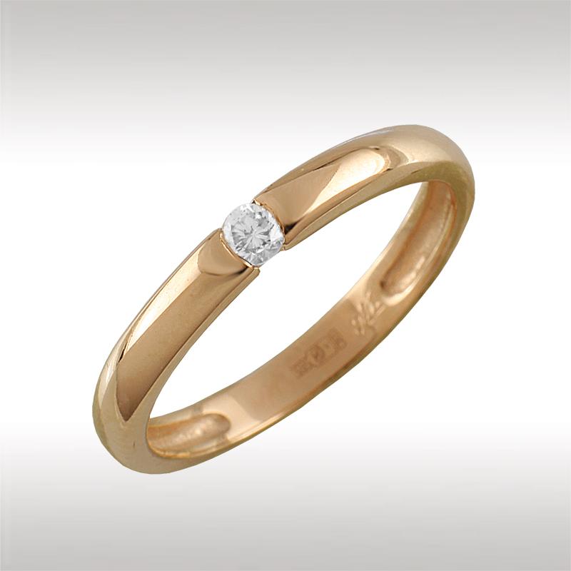 Помолвочное кольцо из золота с бриллиантом Бриллиант арт. 90603 90603
