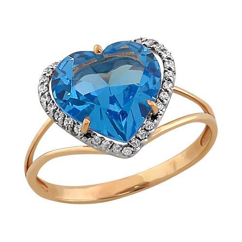 Золотое кольцо Гранат и Фианит арт. 11801661 11801661