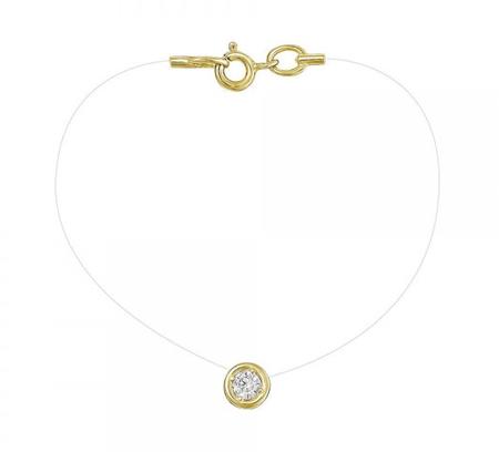 Колье-леска из лимонного золота с цирконием арт. 01л131584 01л131584