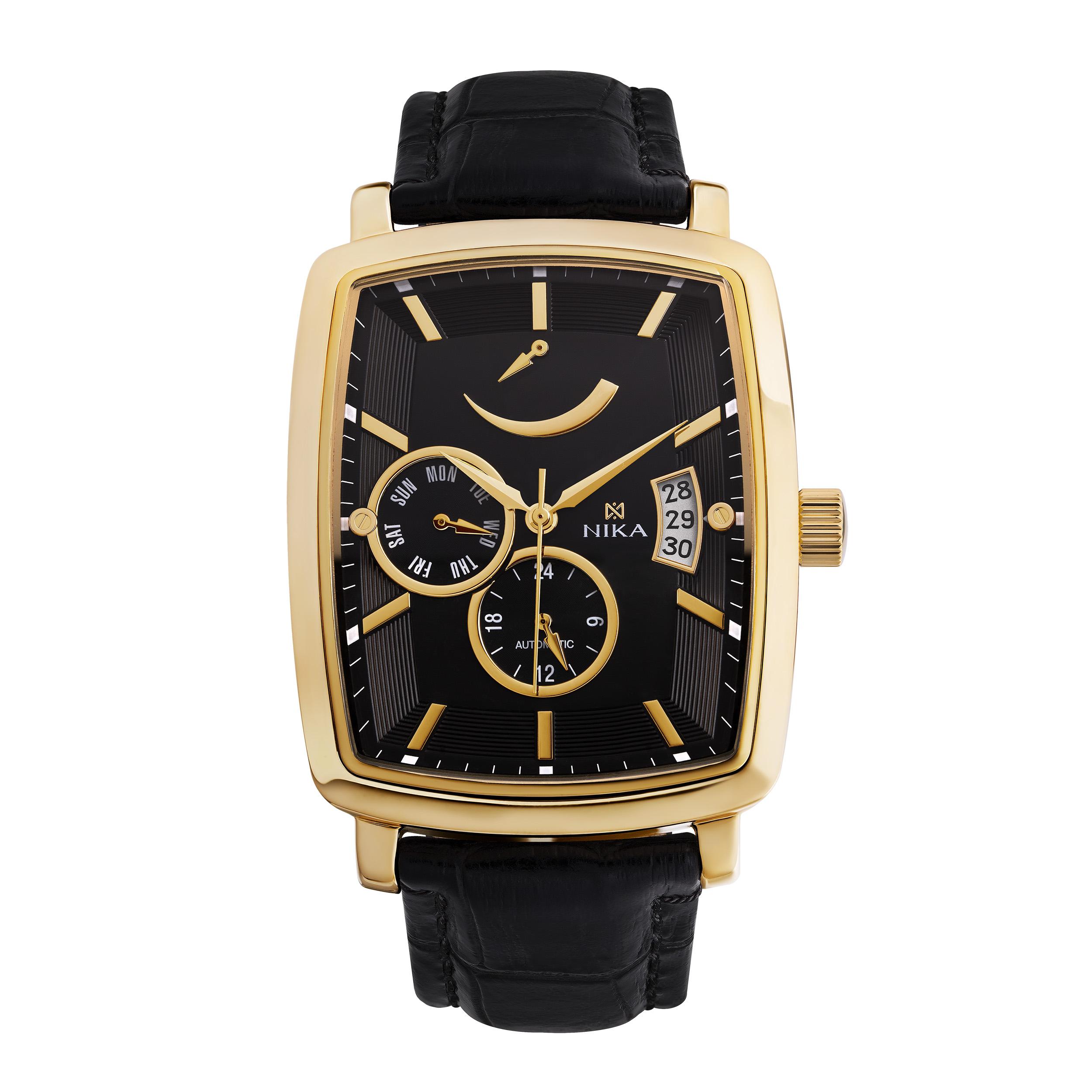 Мужские часы из лимонного золота механические с автоподзаводом запас хода 40 часов арт. 1231.0.3.55a 1231.0.3.55a