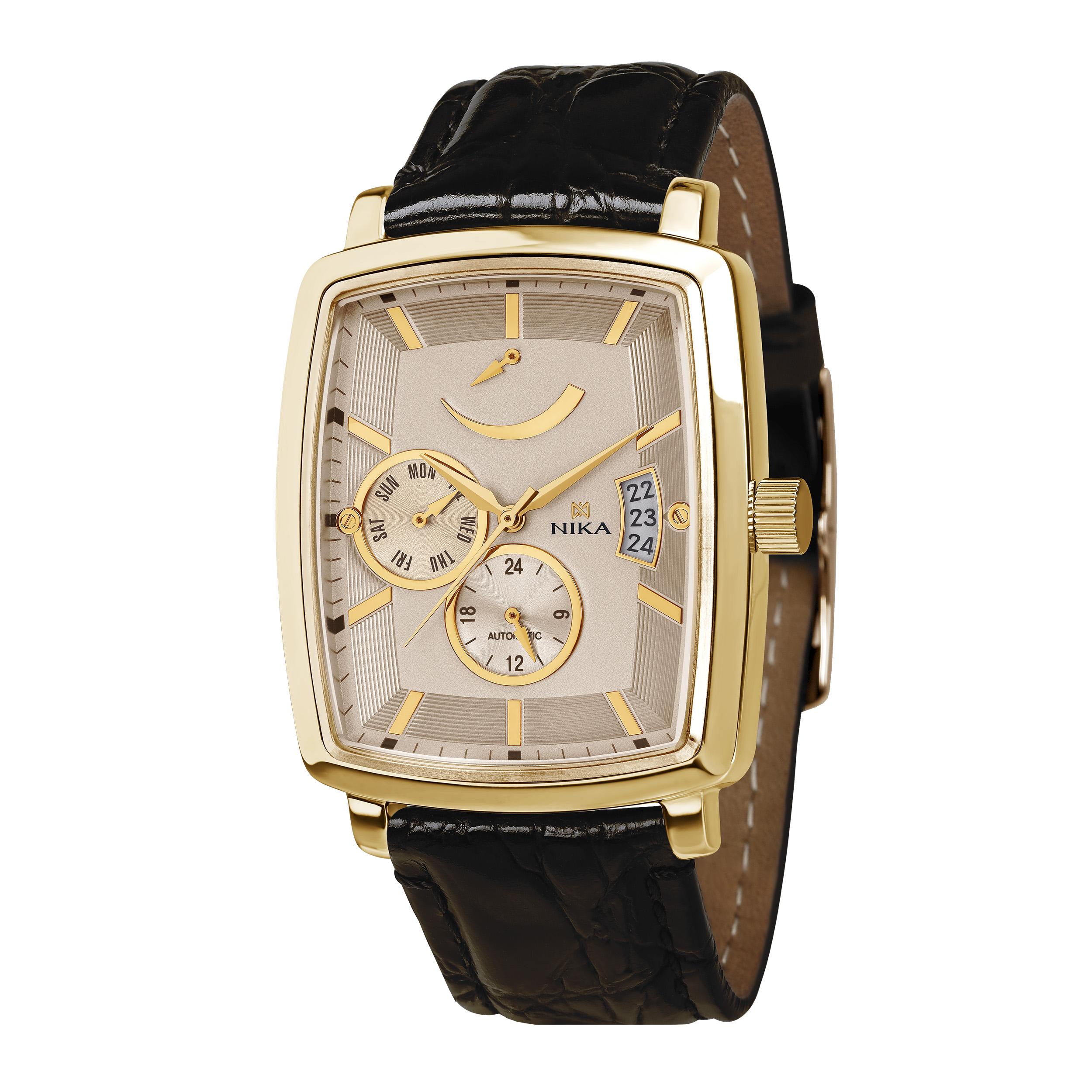 Мужские часы из лимонного золота механические с автоподзаводом запас хода 40 часов арт. 1231.0.3.85a 1231.0.3.85a