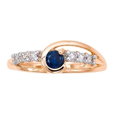 Золотое кольцо Бриллиант и Сапфир арт. 1013301-11140-с 1013301-11140-с