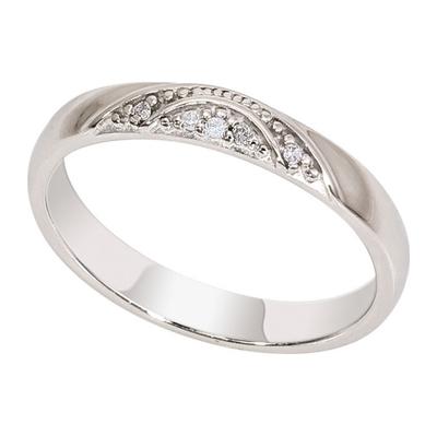 Обручальное кольцо из белого золота с бриллиантом арт. 1017161-21140 1017161-21140