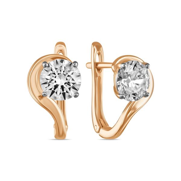 Золотые серьги с кристаллом сваровски арт. e01-c-sw-59587-z e01-c-sw-59587-z