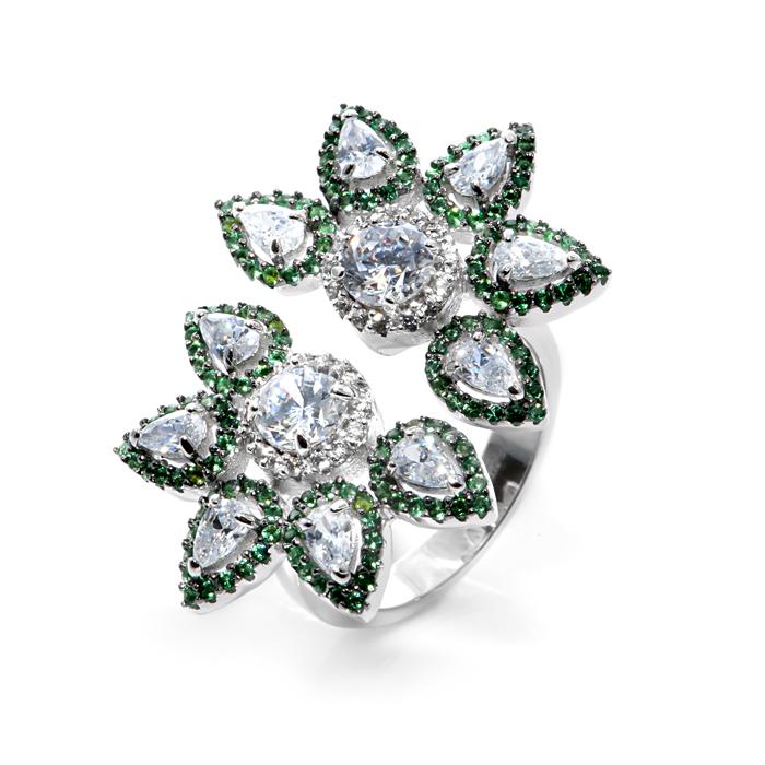 Серебряное кольцо Без вставки арт. r908209-w r908209-w