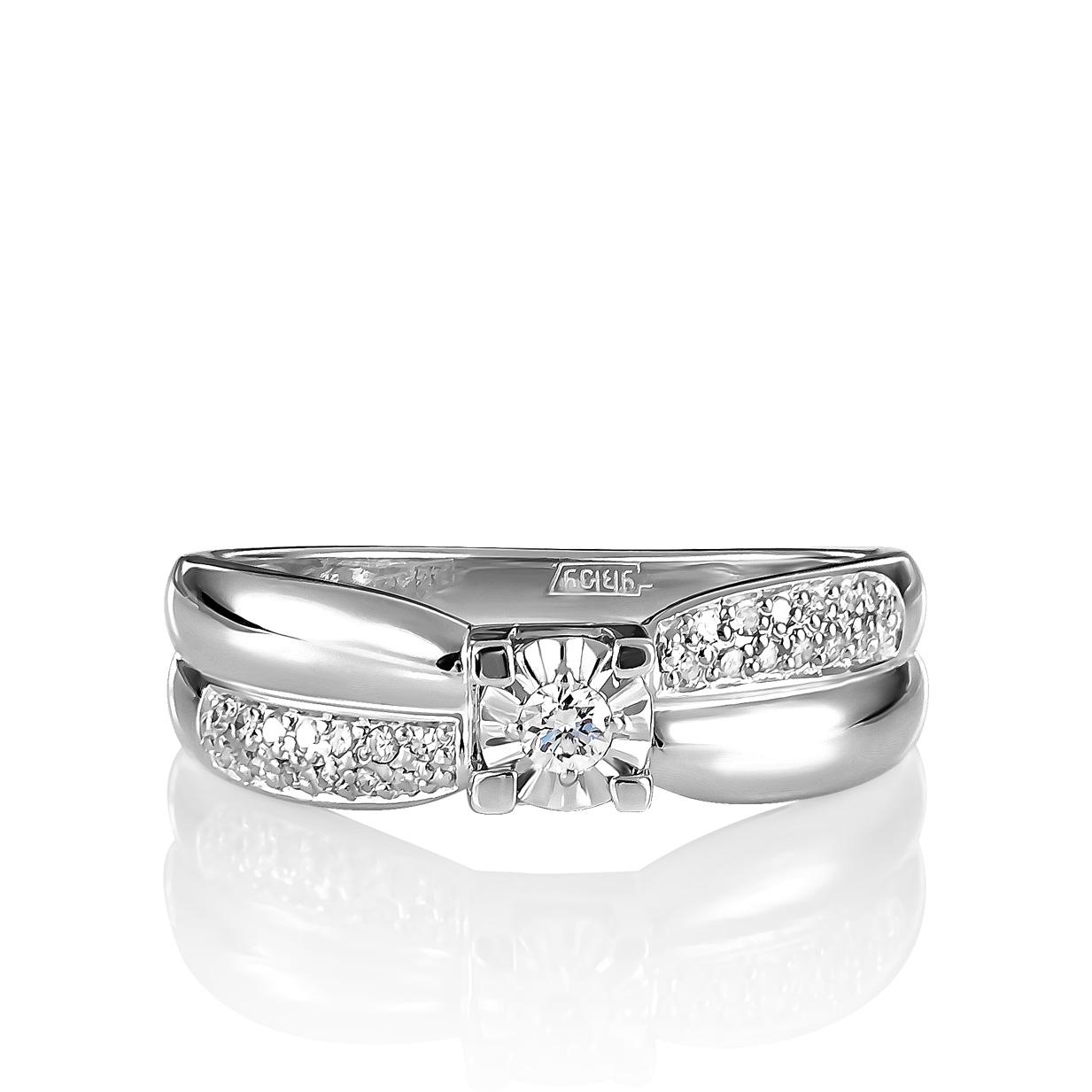 Кольцо из белого золота Бриллиант арт. 11-11085-1000 11-11085-1000