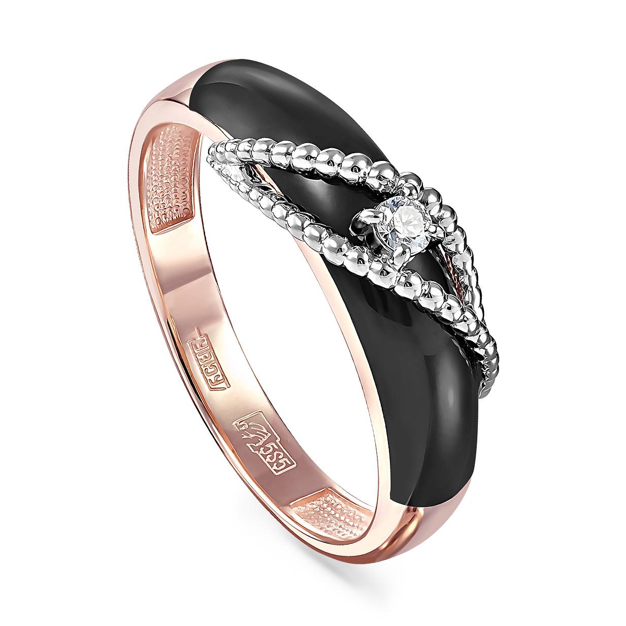 Золотое кольцо Бриллиант и Эмаль арт. 11-01067-1002 11-01067-1002