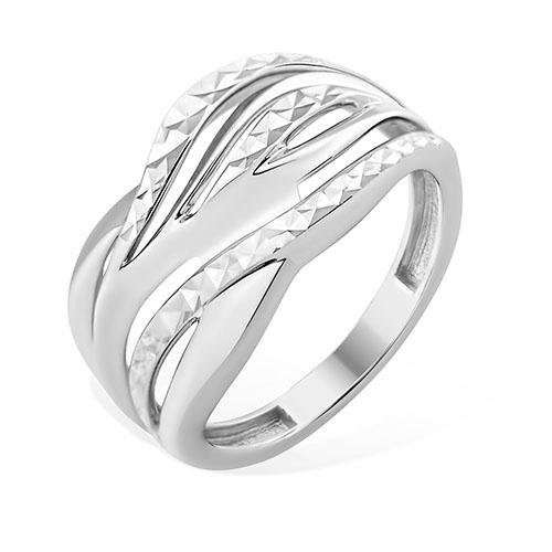 Кольцо серебряное с позолотой Без вставки арт. 1000125385 1000125385
