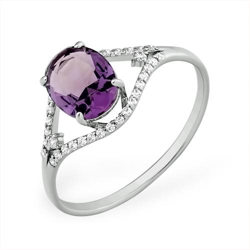 Серебряное кольцо Топаз и Фианит арт. 1015010772-2 1015010772-2