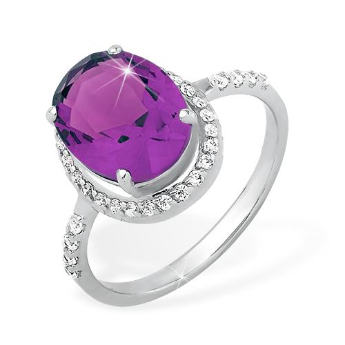 Серебряное кольцо Фианит и Цитрин арт. 1015010823-8 1015010823-8