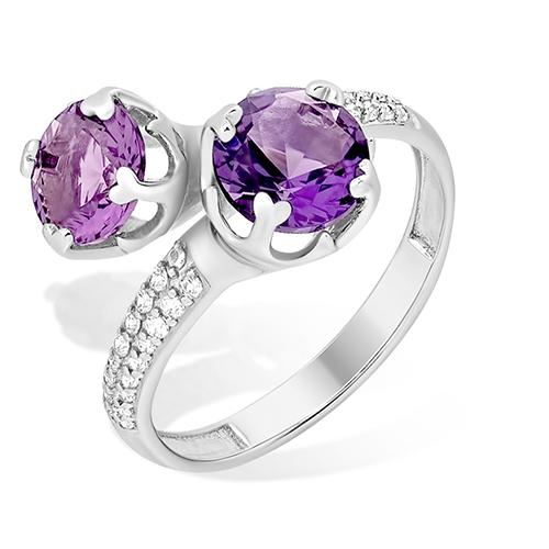 Серебряное кольцо Топаз и Фианит арт. 1015011510-501 1015011510-501