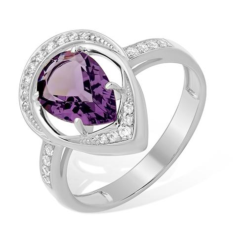 Серебряное кольцо Раухтопаз и Фианит арт. 1015011915-5 1015011915-5