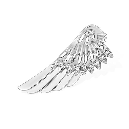 Серебряная брошь с фианитом арт. 1510011700-501 1510011700-501