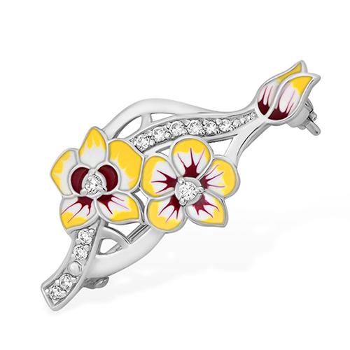 Серебряная брошь с фианитом арт. 1510414098-501 1510414098-501