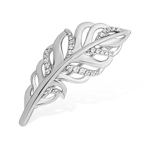 Серебряная брошь с фианитом арт. 1510015250-501 1510015250-501