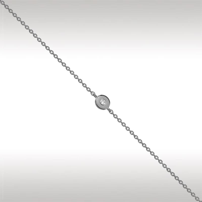Браслет из белого золота с бриллиантом арт. 91009-1 91009-1