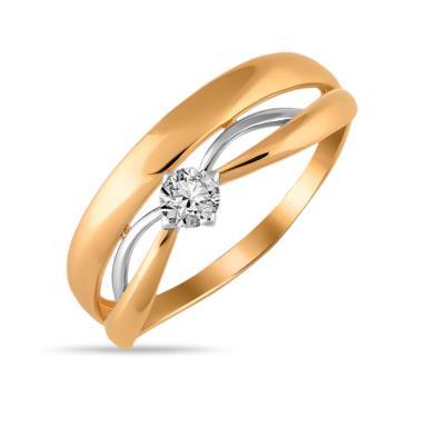 Золотое кольцо Фианит арт. 01-115393 01-115393