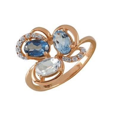Золотое кольцо Фианит арт. 0034-1214 0034-1214