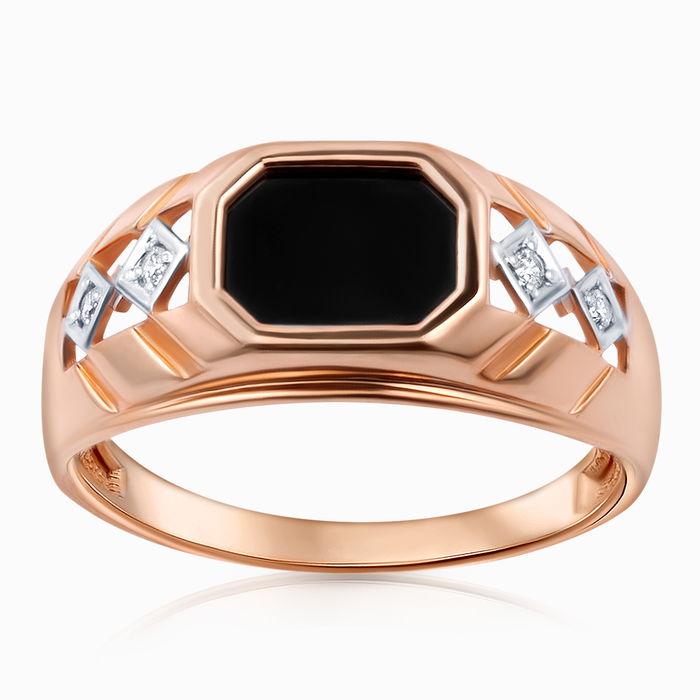 Серебряное кольцо Оникс и Фианит арт. 47249 47249