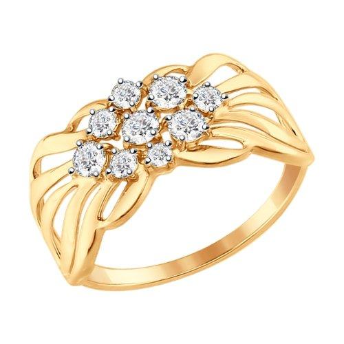 Золотое кольцо Фианит арт. 017341 017341