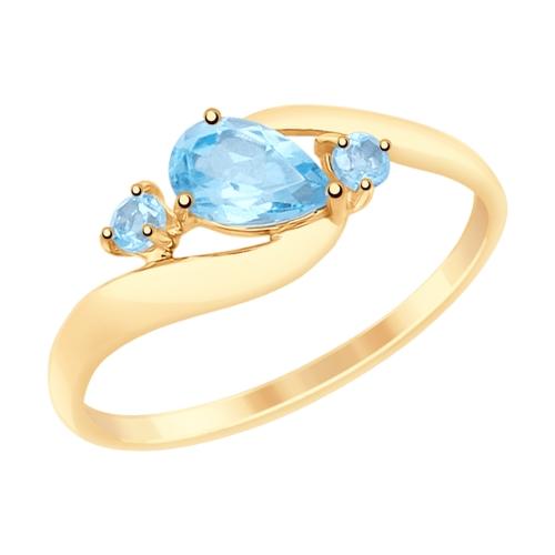 Золотое кольцо Топаз арт. 715080 715080