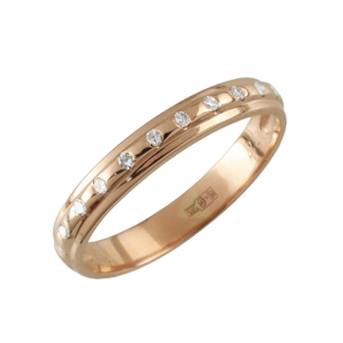 Обручальное кольцо из белого золота с бриллиантом арт. 90961-I 90961-I