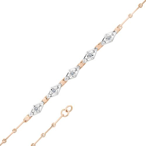 Браслет из белого золота с бриллиантом арт. 10-324 10-324