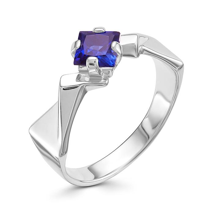 Серебряное кольцо Сапфир арт. 01-0579/0гтс-00 01-0579/0гтс-00