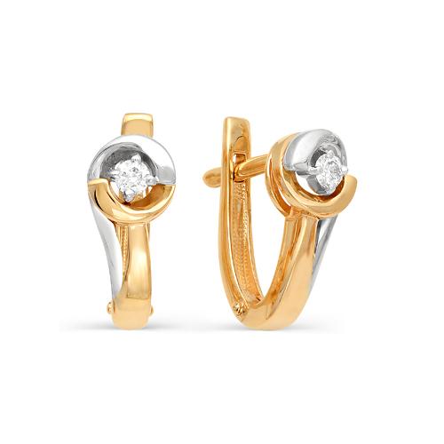 Серьги из белого золота с бриллиантом арт. 2-105-996 2-105-996