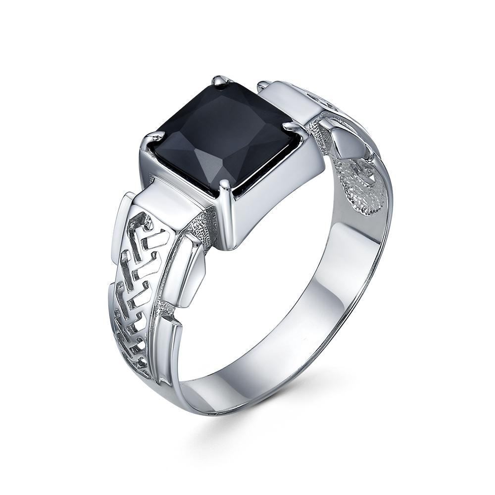 Серебряная печатка с раух-топазом км-304