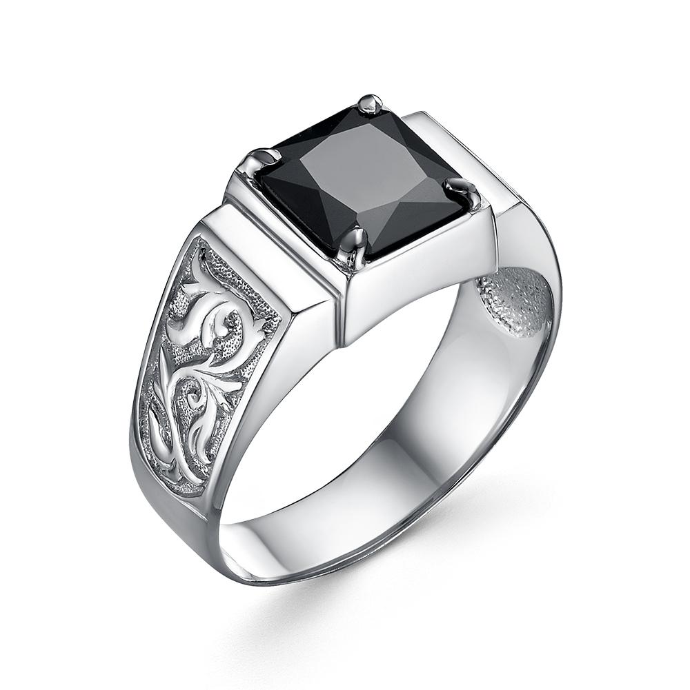 Серебряная печатка с раух-топазом км-309