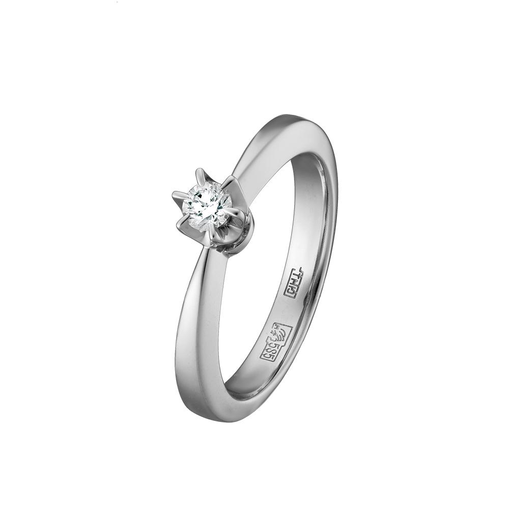 Кольцо из белого золота Бриллиант арт. 73755 73755