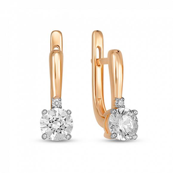 Золотые серьги с фианитом арт. e01-z-59588-z e01-z-59588-z