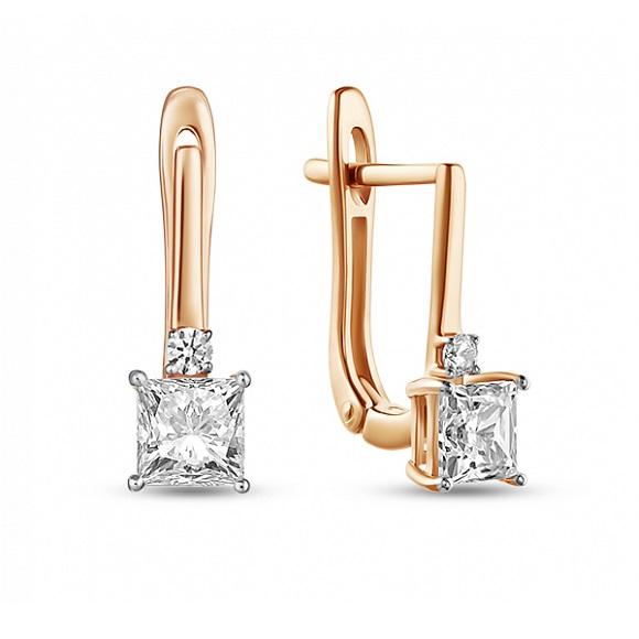 Золотые серьги с фианитом арт. e01-z-59633-z e01-z-59633-z