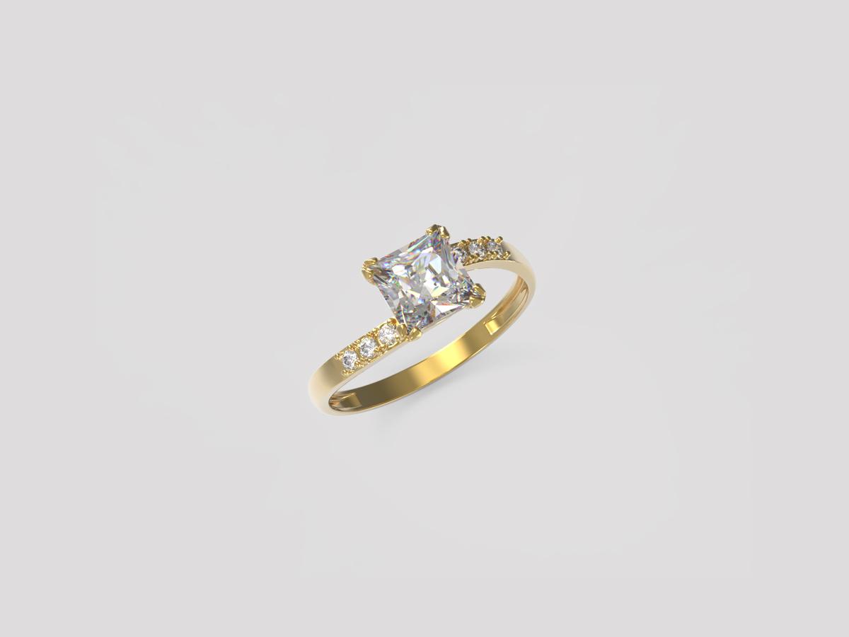 Золотое кольцо Фианит арт. к-168 к-168