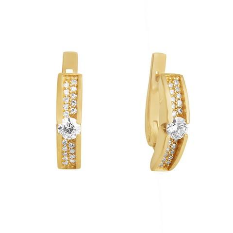 Золотые серьги с бриллиантом и сапфиром арт. 2-01796 2-01796